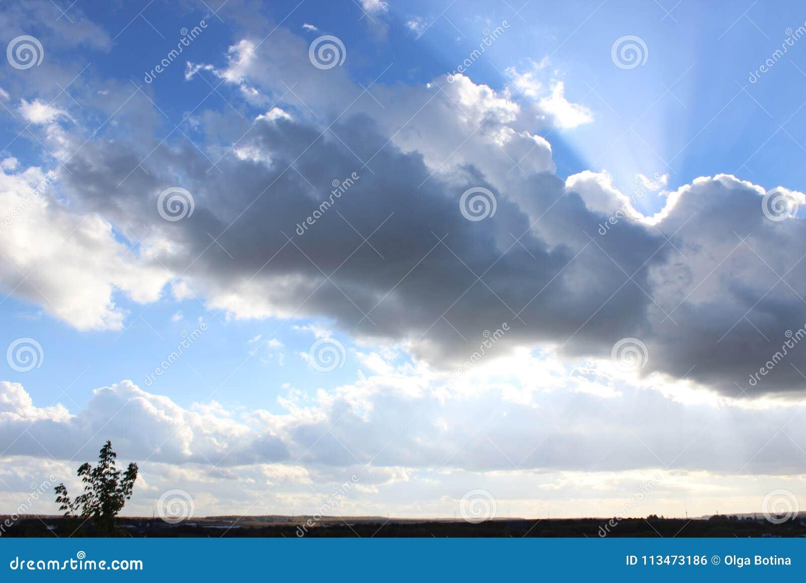 Chmura zamykał słońce