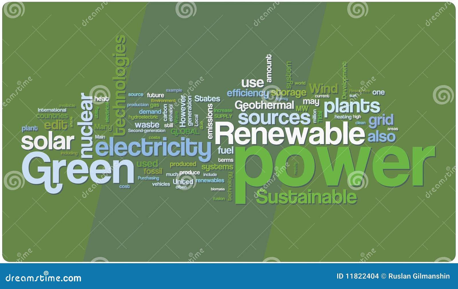 Chmurnieje zielonej władzy słowo