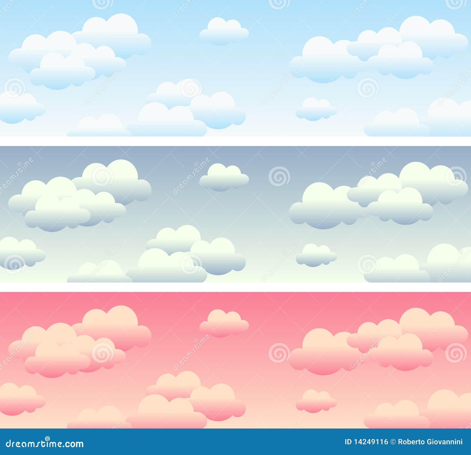 Chmurny sztandaru niebo