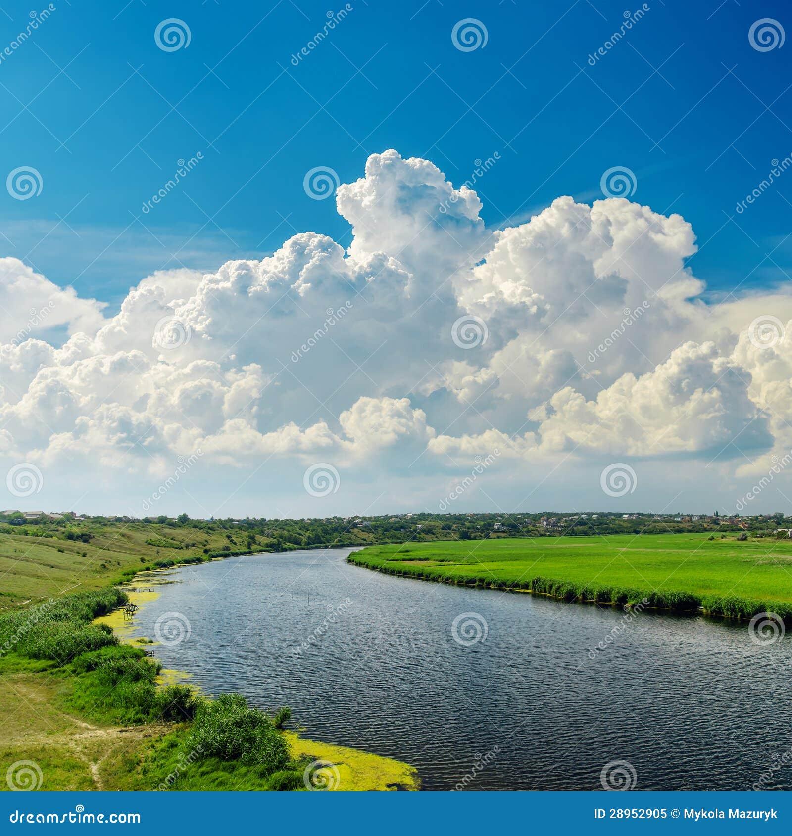 Chmury nad rzeką