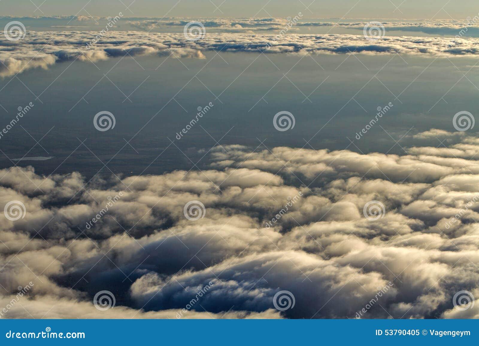 Chmury od wysokości samolot