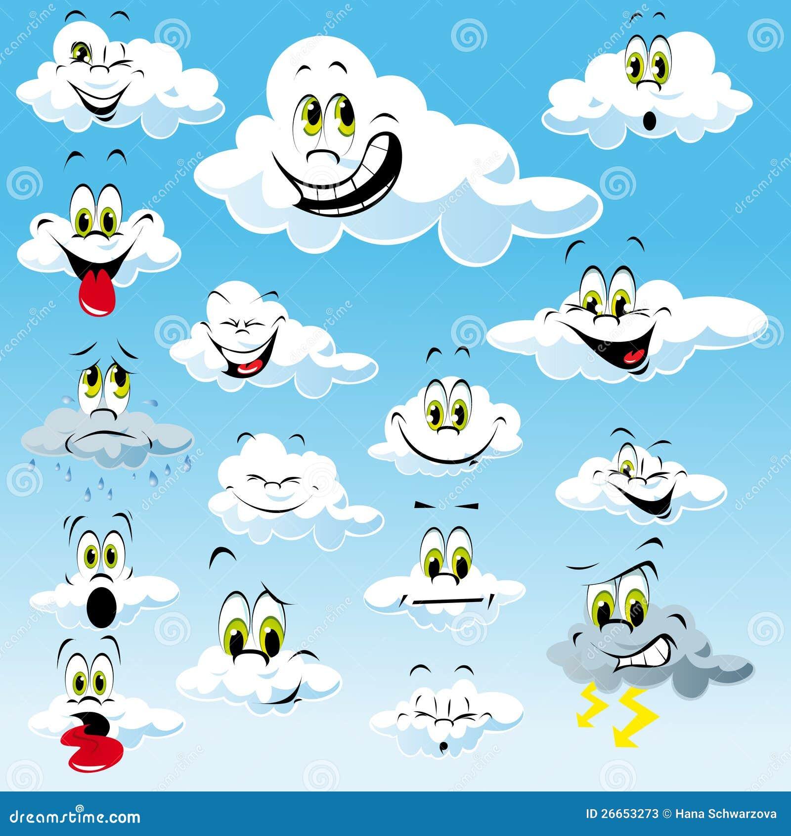 Chmury z Kreskówek Twarzami