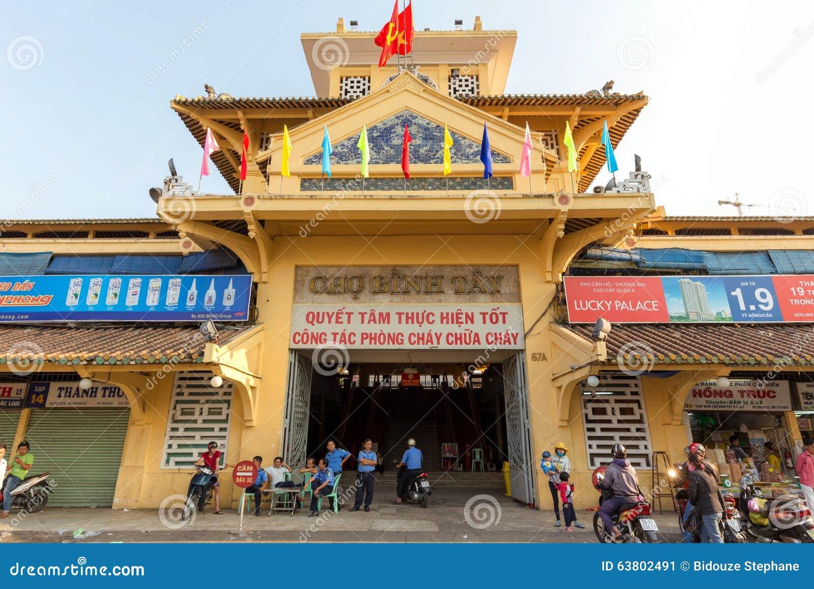 Cho binh tay market entrance editorial photo image 63802491 - Piscine ho chi minh ville ...