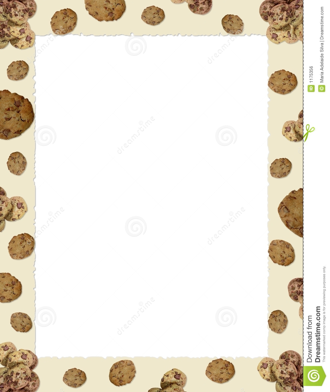Choc Chip Cookie Border Stock Photo Image Of Stationary