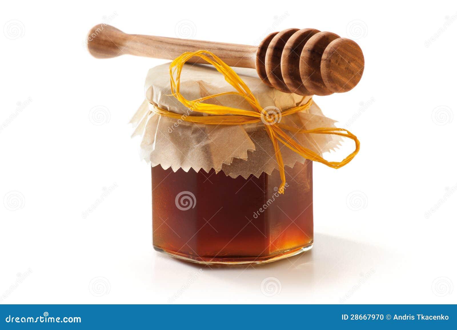 Choc et plongeur de miel