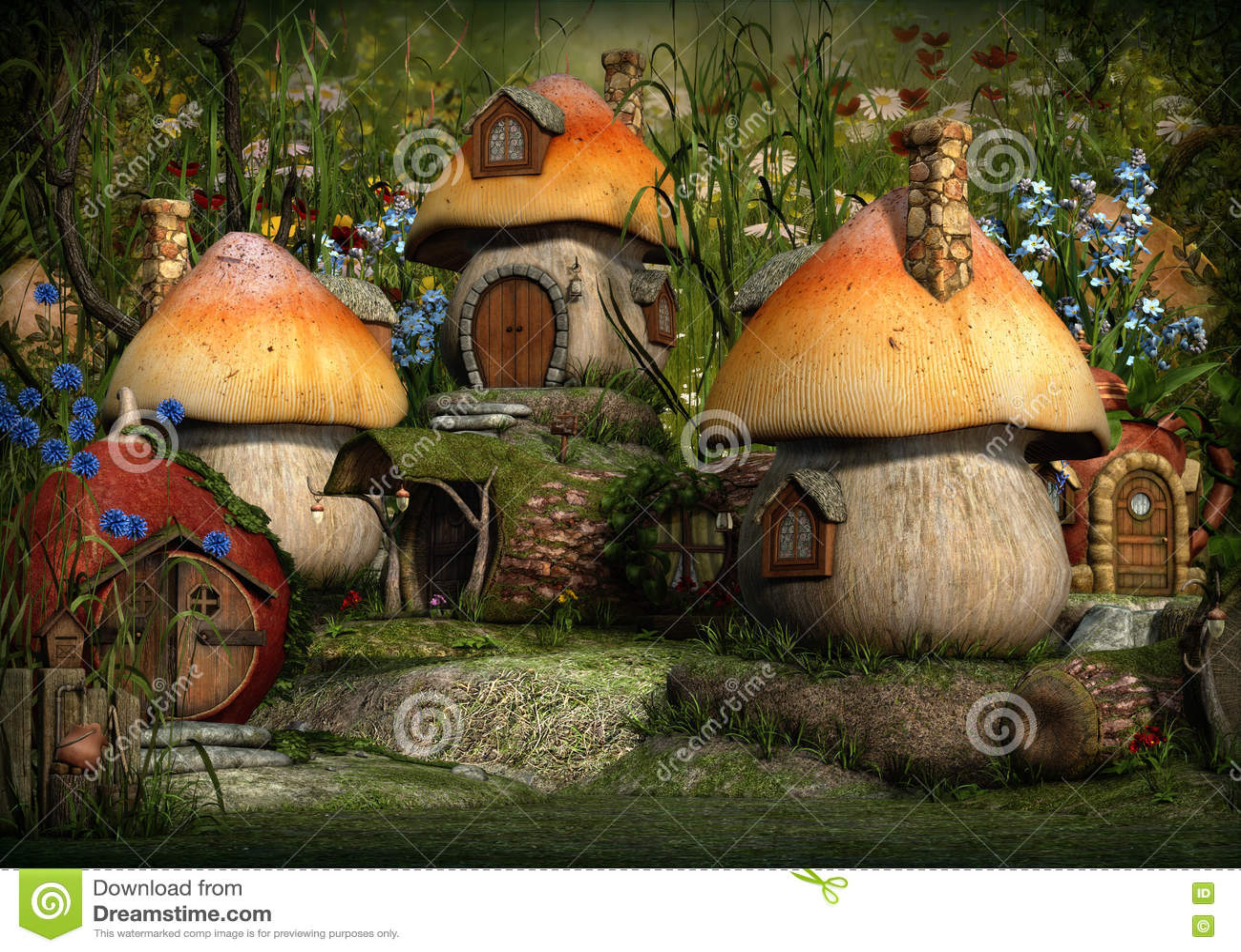 Chochlik wioska, 3d CG
