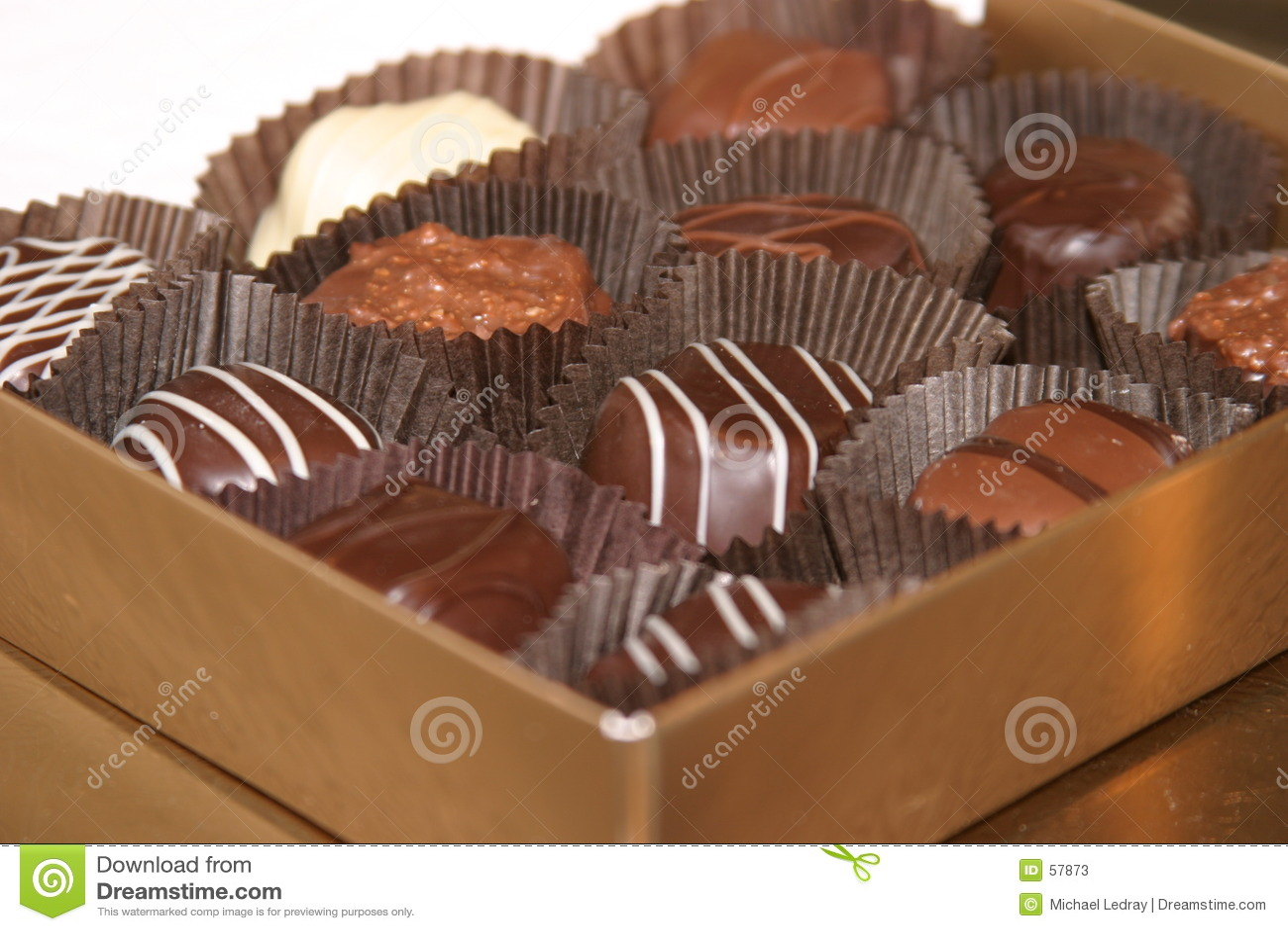 Chocolade 2 van de valentijnskaart