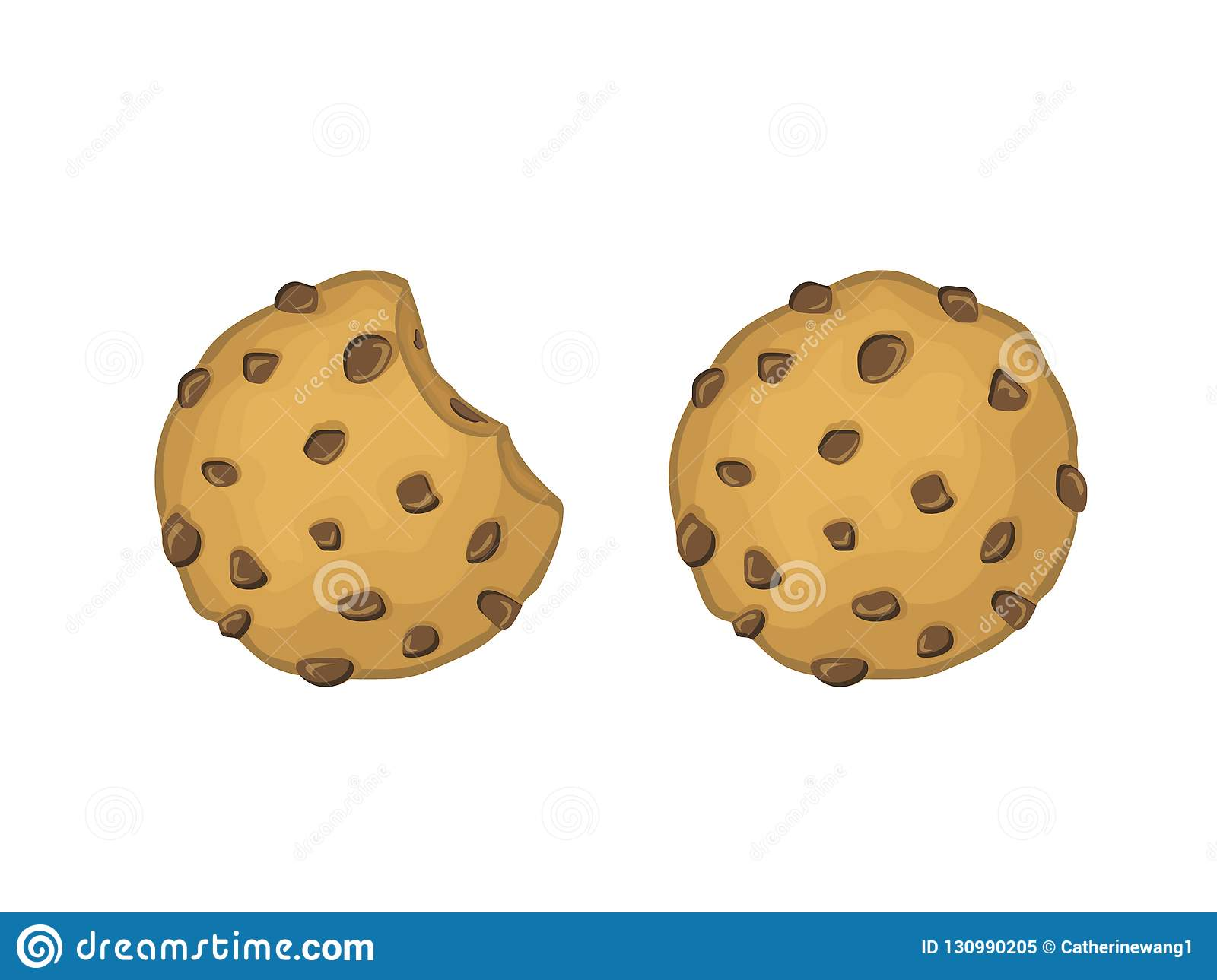 Chocolade Chips Cookies Vector Illustration