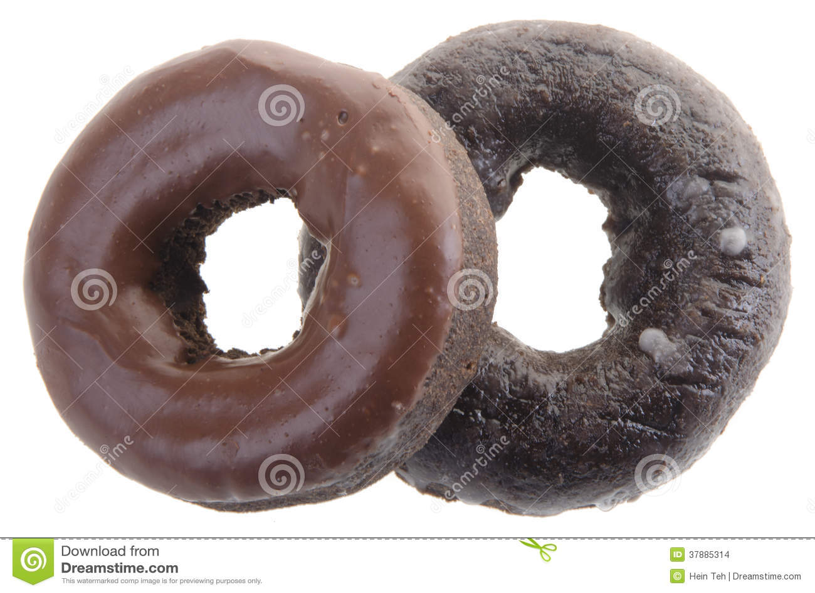 Chocolade donuts op een achtergrond