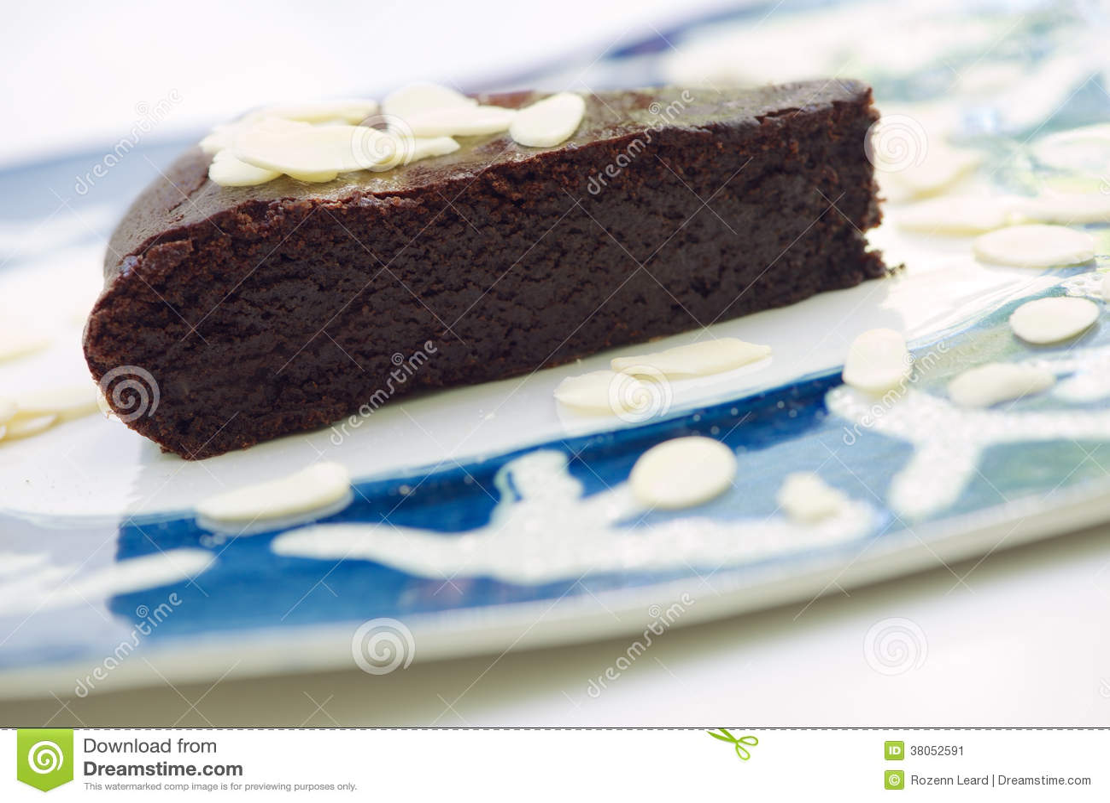 Chocolade en amandelcake