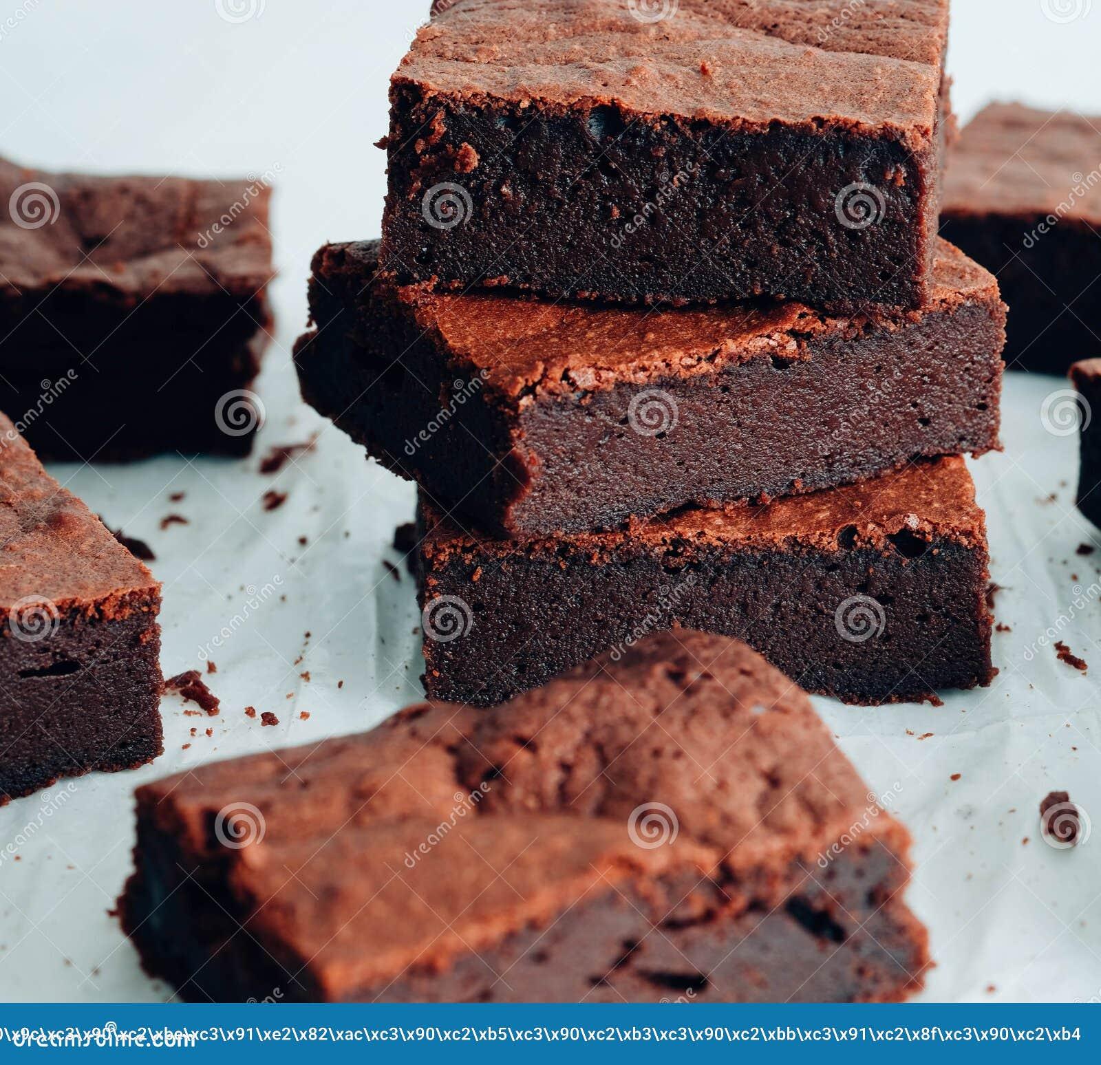 Chocoladebrownie De toren van de chocoladebrownie