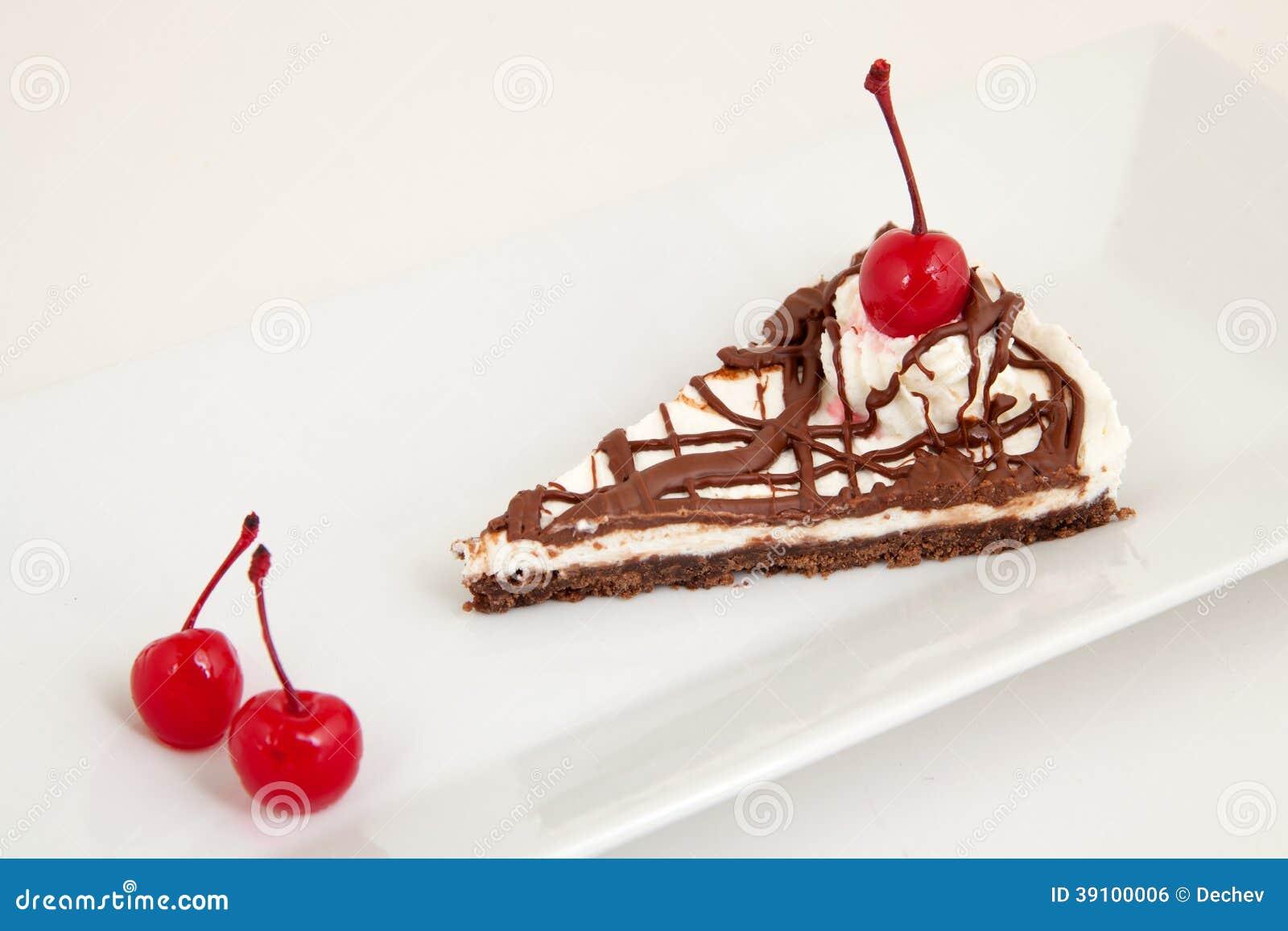 Chocoladecake met kers
