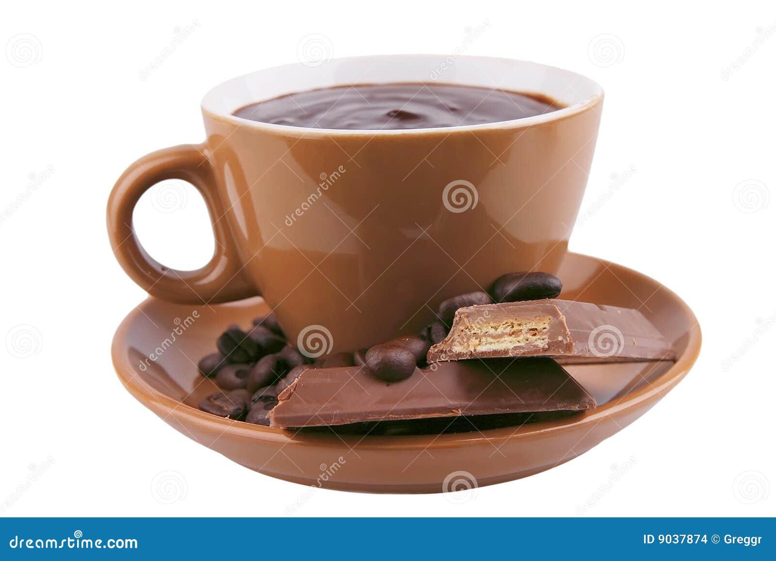chocolat chaud dans la tasse images stock image 9037874. Black Bedroom Furniture Sets. Home Design Ideas