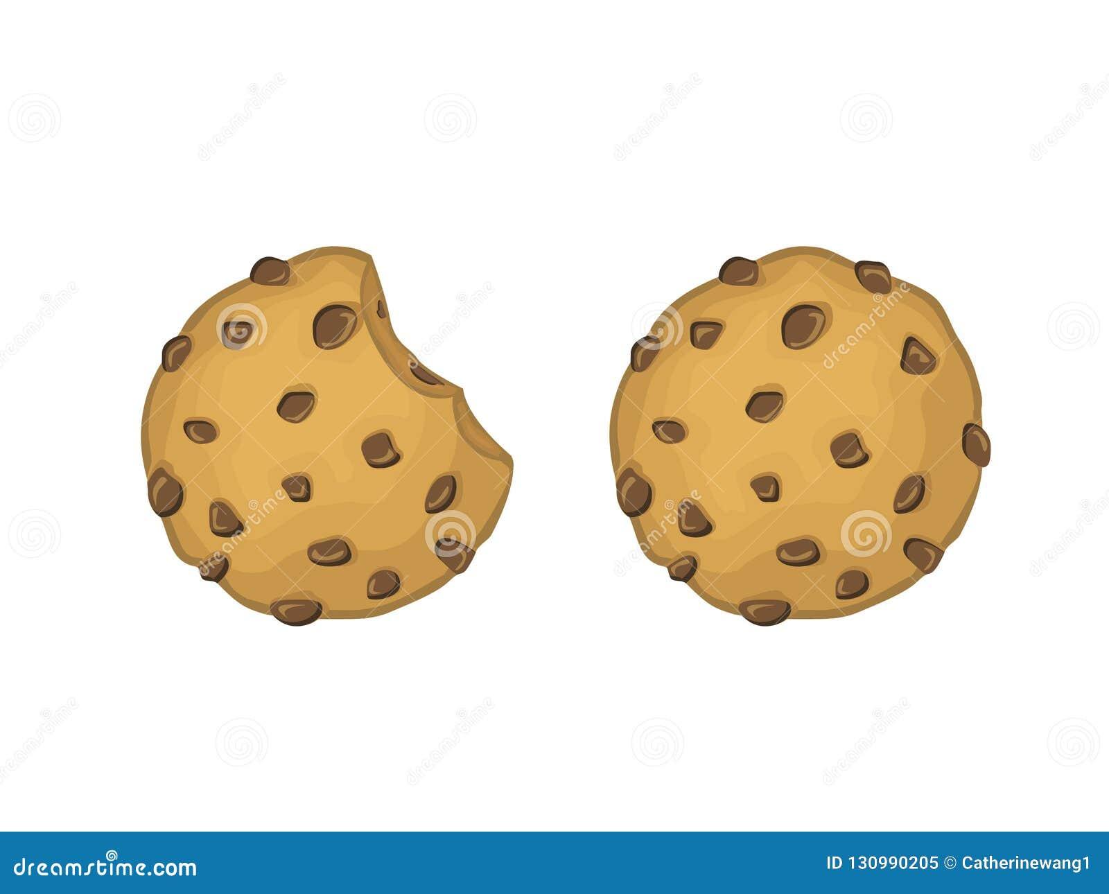 Chocolat Chips Cookies Vector Illustration
