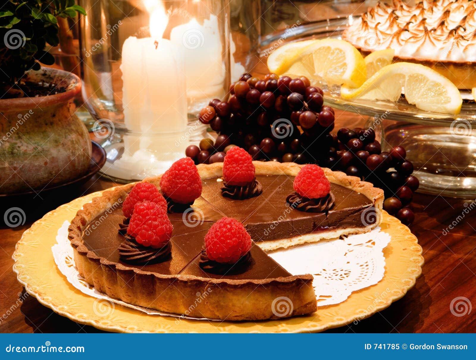 Chocolat Rasberry Torte de Bubbies de chef