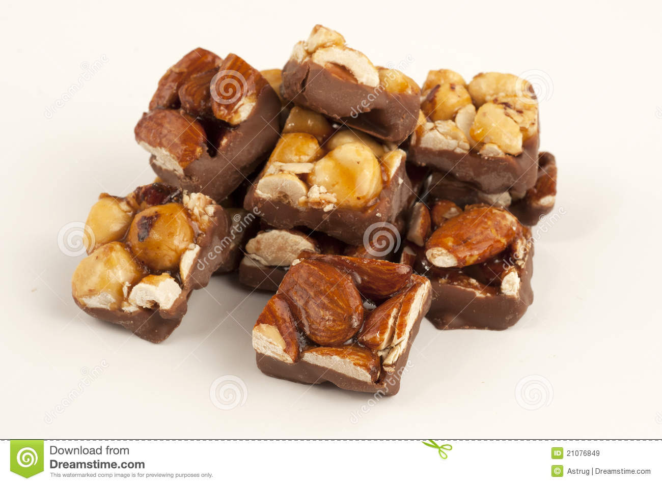 Chocolate Almond And Hazelnut Royalty Free Stock Images - Image ...