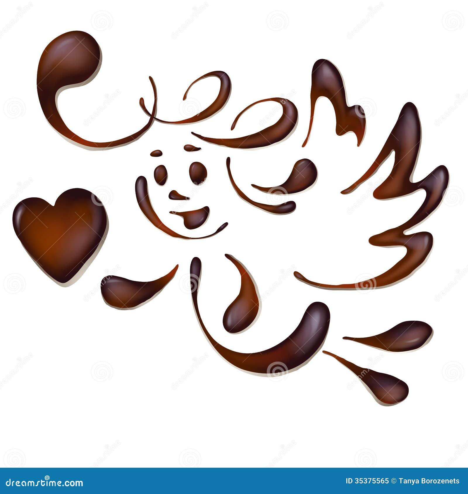 Chocolate Angel Royalty Free Stock Photo - Image: 35375565