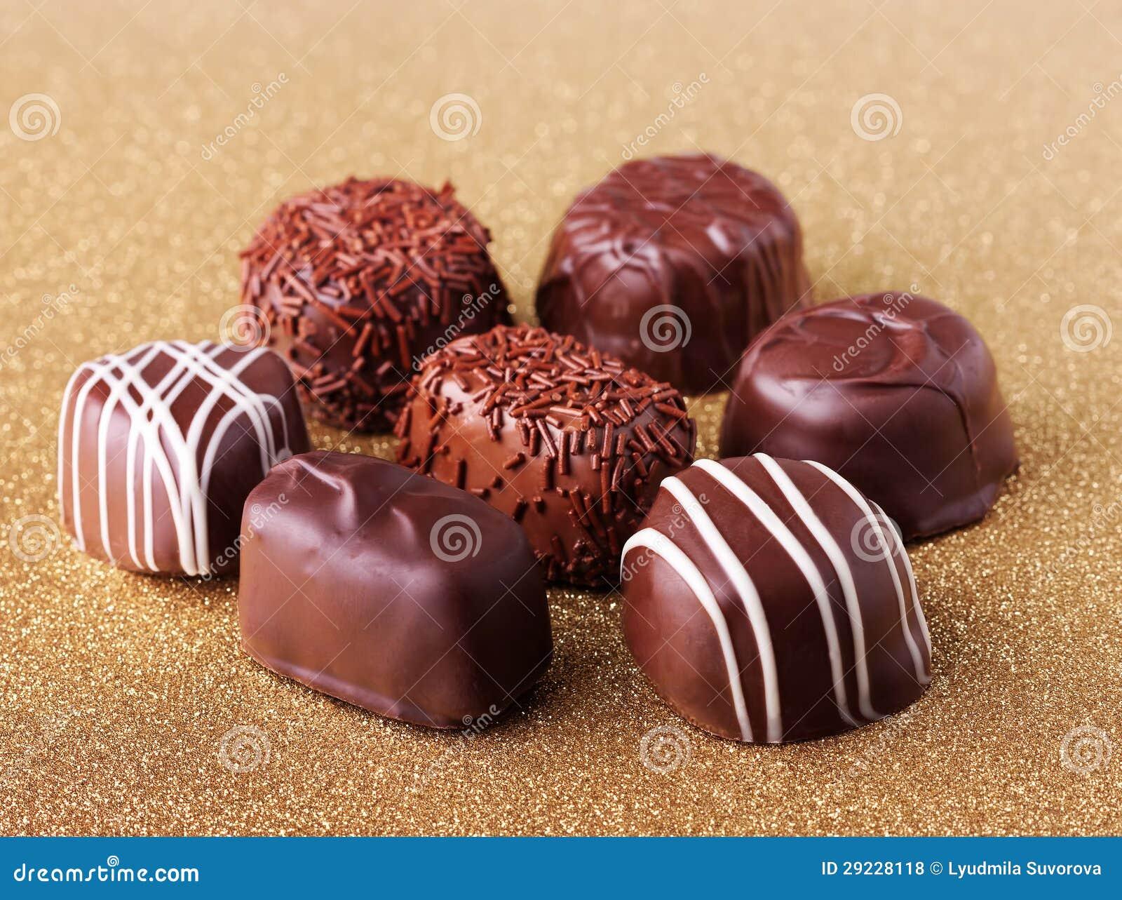 Download Chocolate Assorted foto de stock. Imagem de dourado, macro - 29228118