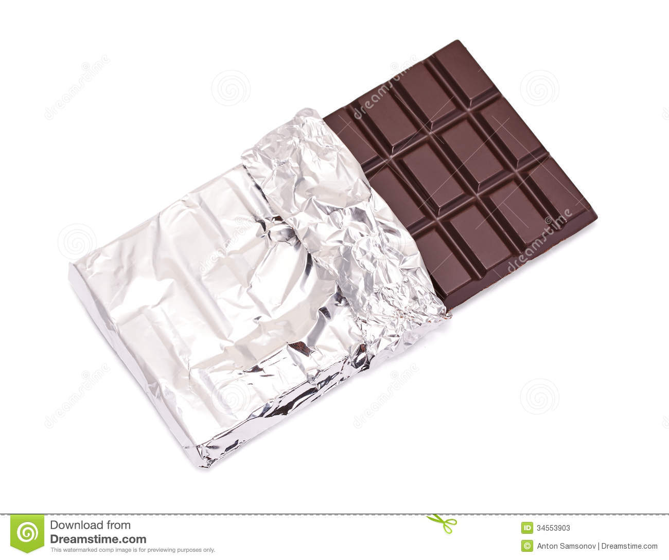 Chocolate Bar With Open Cover Stock Photos - Image: 34553903
