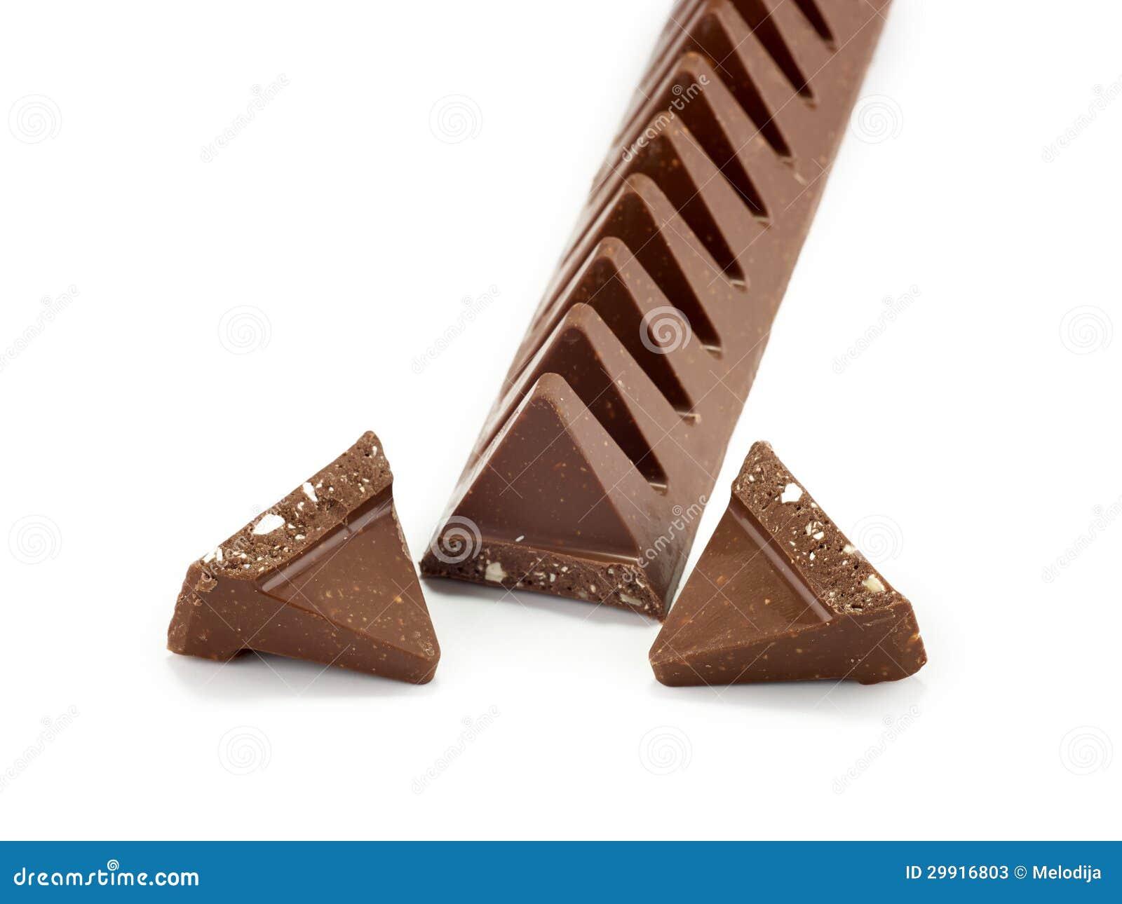Chocolate Bar In Pyramid Shape Stock Photos Image 29916803