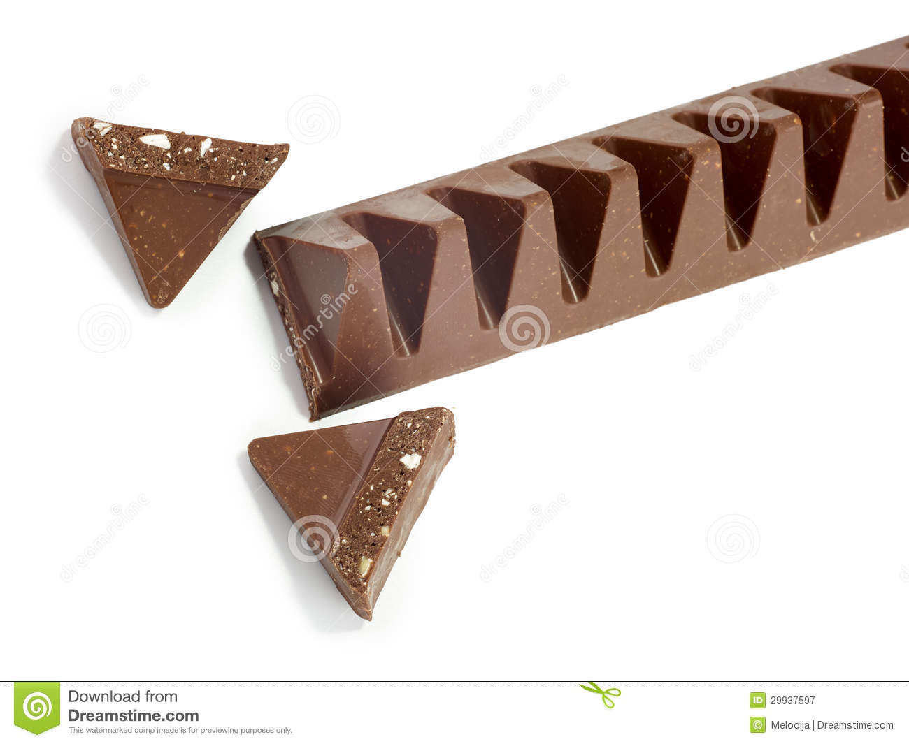 chocolate bar in pyramid shape stock image image 29937597. Black Bedroom Furniture Sets. Home Design Ideas