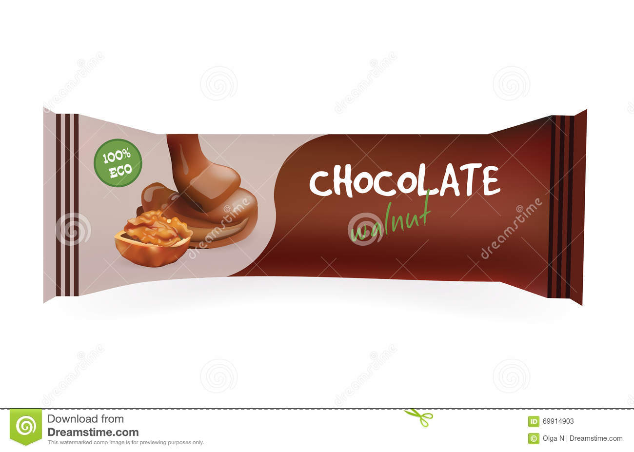 Chocolate Bar With Walnut Mock Up For Your Design And