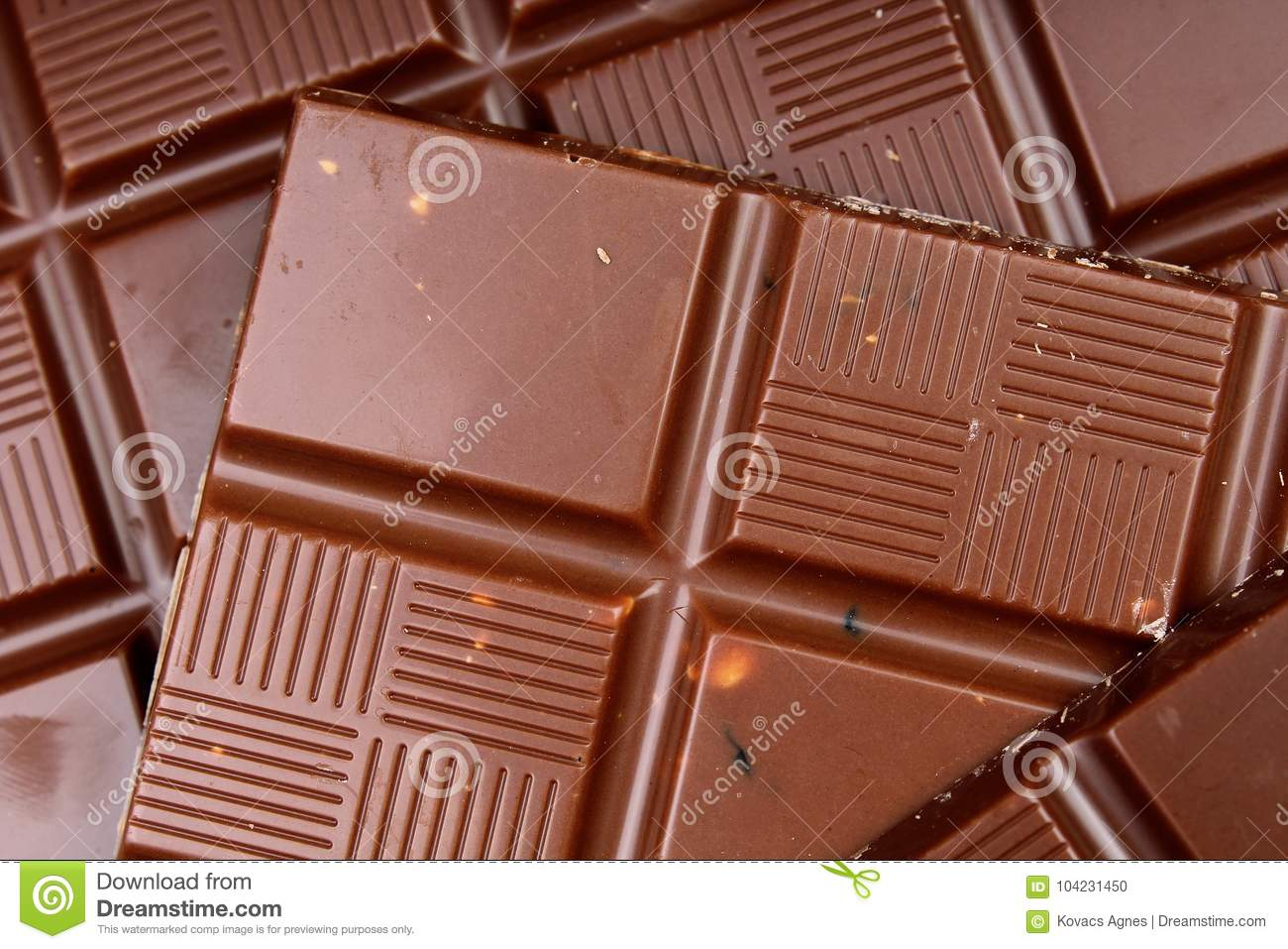 Chocolate Bars As Background Milk And Dark Shiny Chocolate Texture