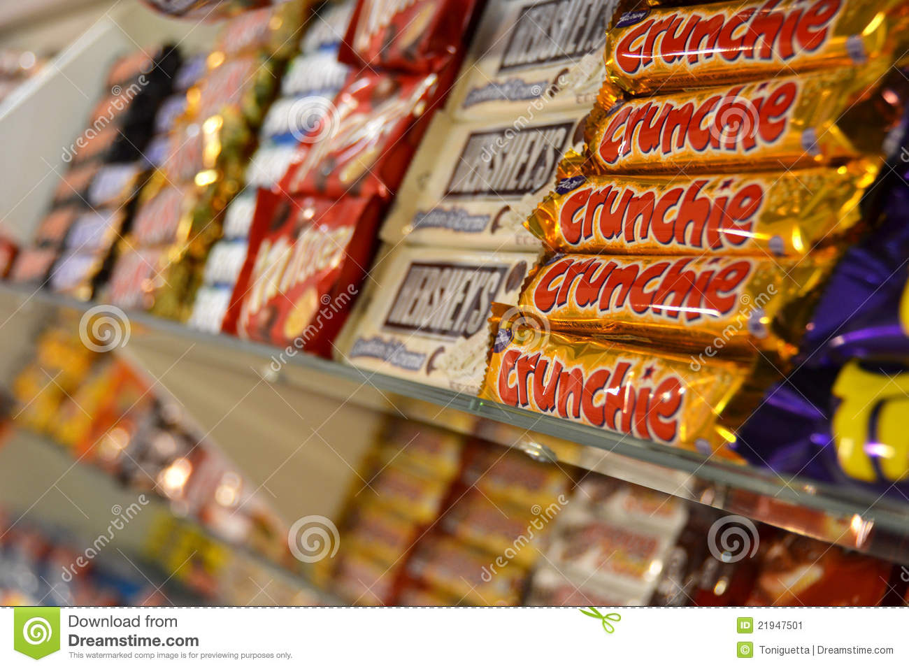 Chocolate Bars In A Candy Store (1) Editorial Image - Image: 21947230