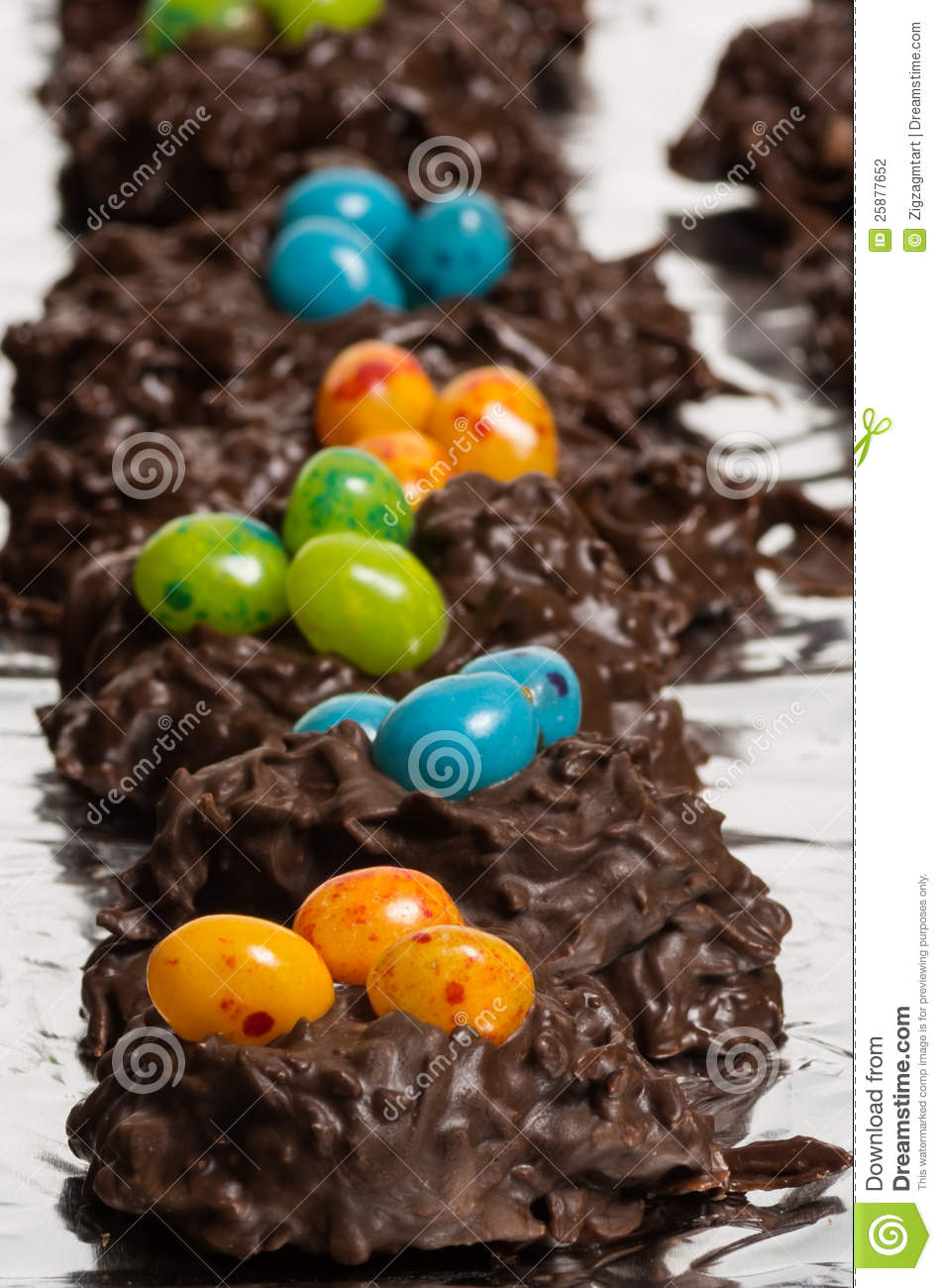 More similar stock images of ` Chocolate bird nests with jelly beans `