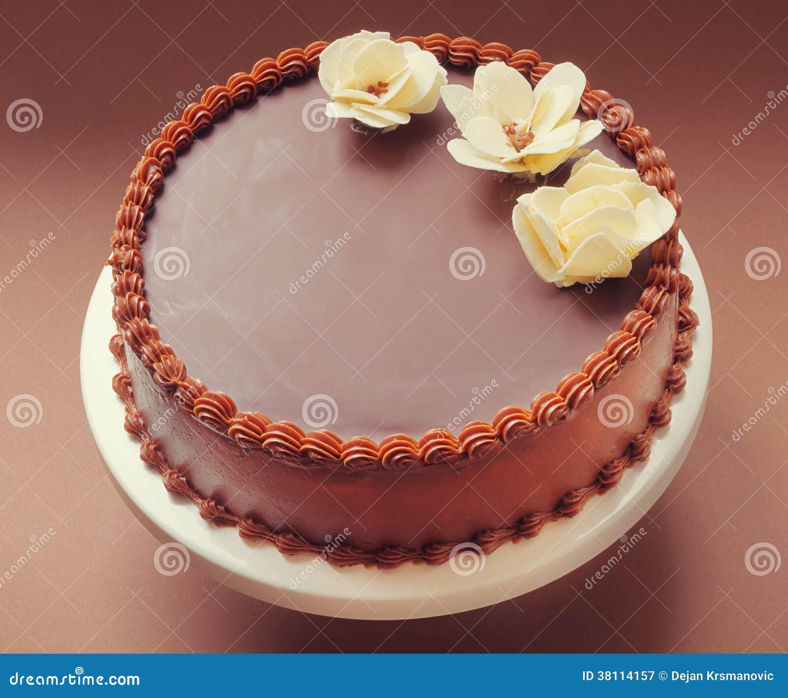 Chocolate Birthday Cake Royalty Free Stock Photography ...