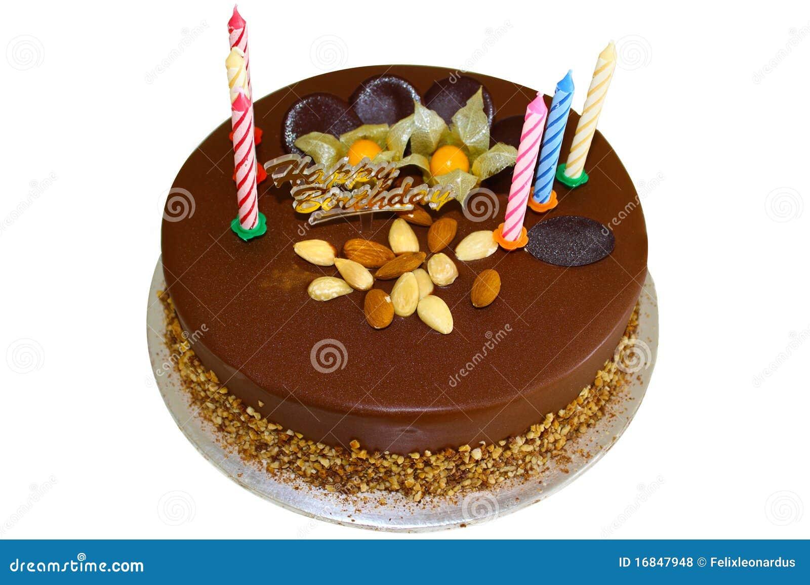 Chocolate Birthday Cake With Almond