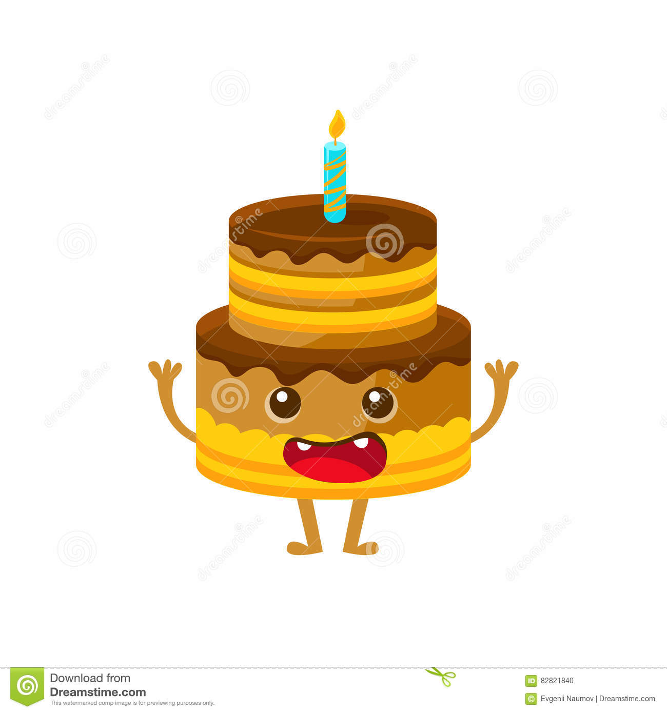 Chocolate Birthday Cake With Candle Happy Birthday And Celebration