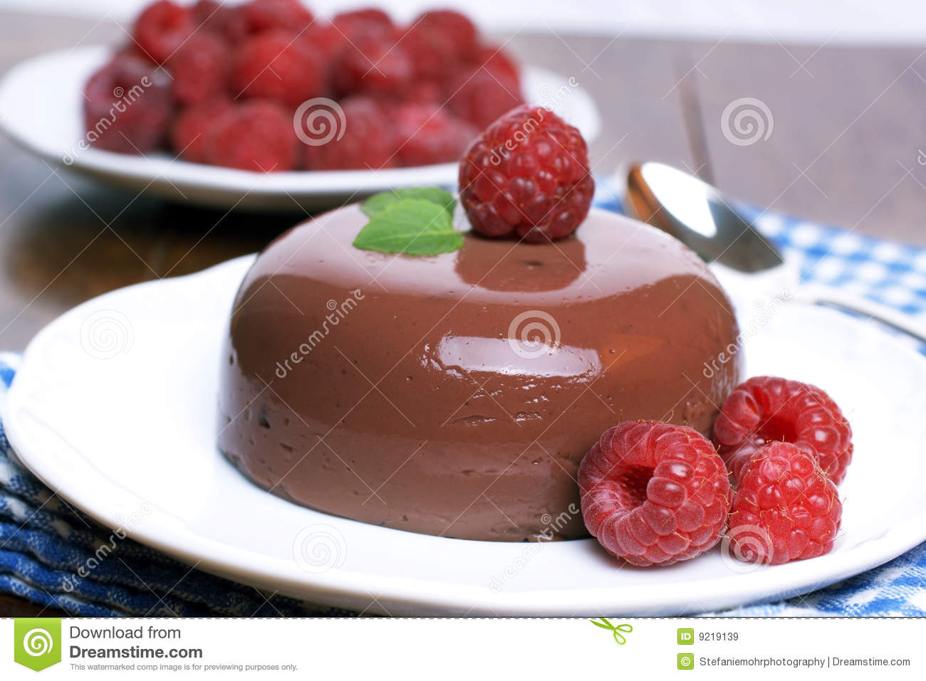 Chocolate Blancmange Royalty Free Stock Images - Image ...