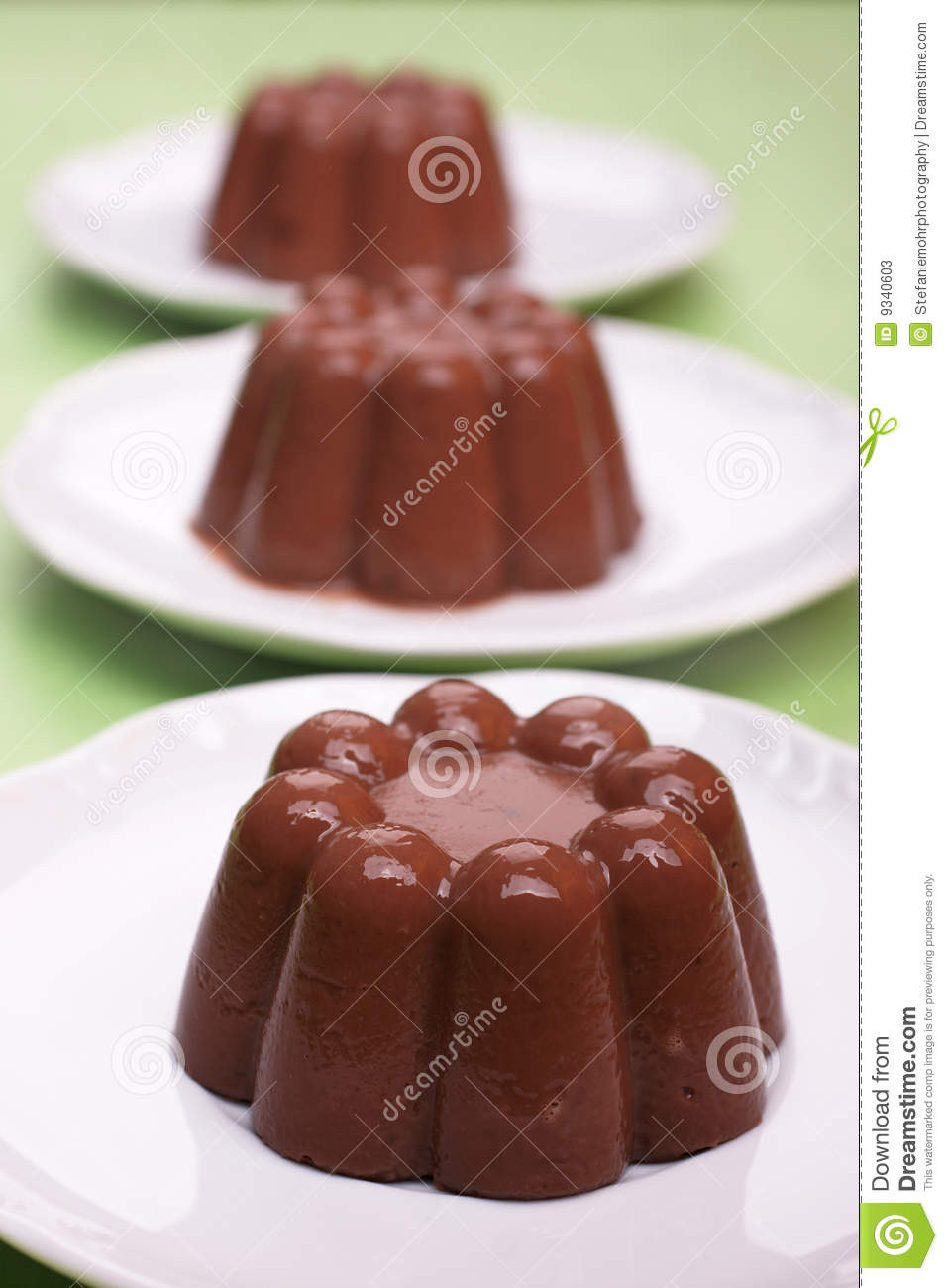 Chocolate Blancmange Stock Photos - Image: 9340603