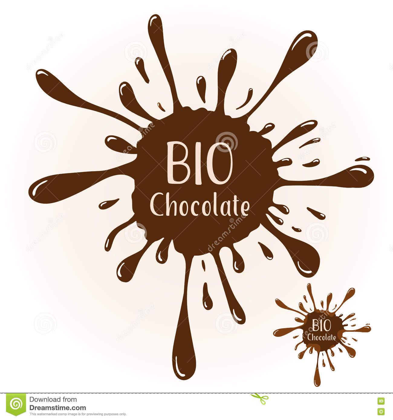 Vector Chocolate Blot With Text BIO Badge Template For Various Use Highlights
