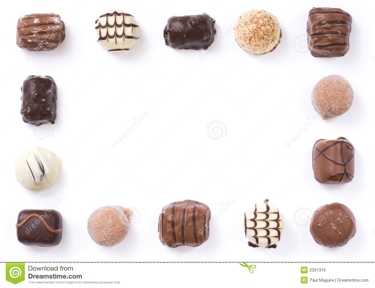 Chocolate Border Royalty Free Stock Images - Image: 2301319