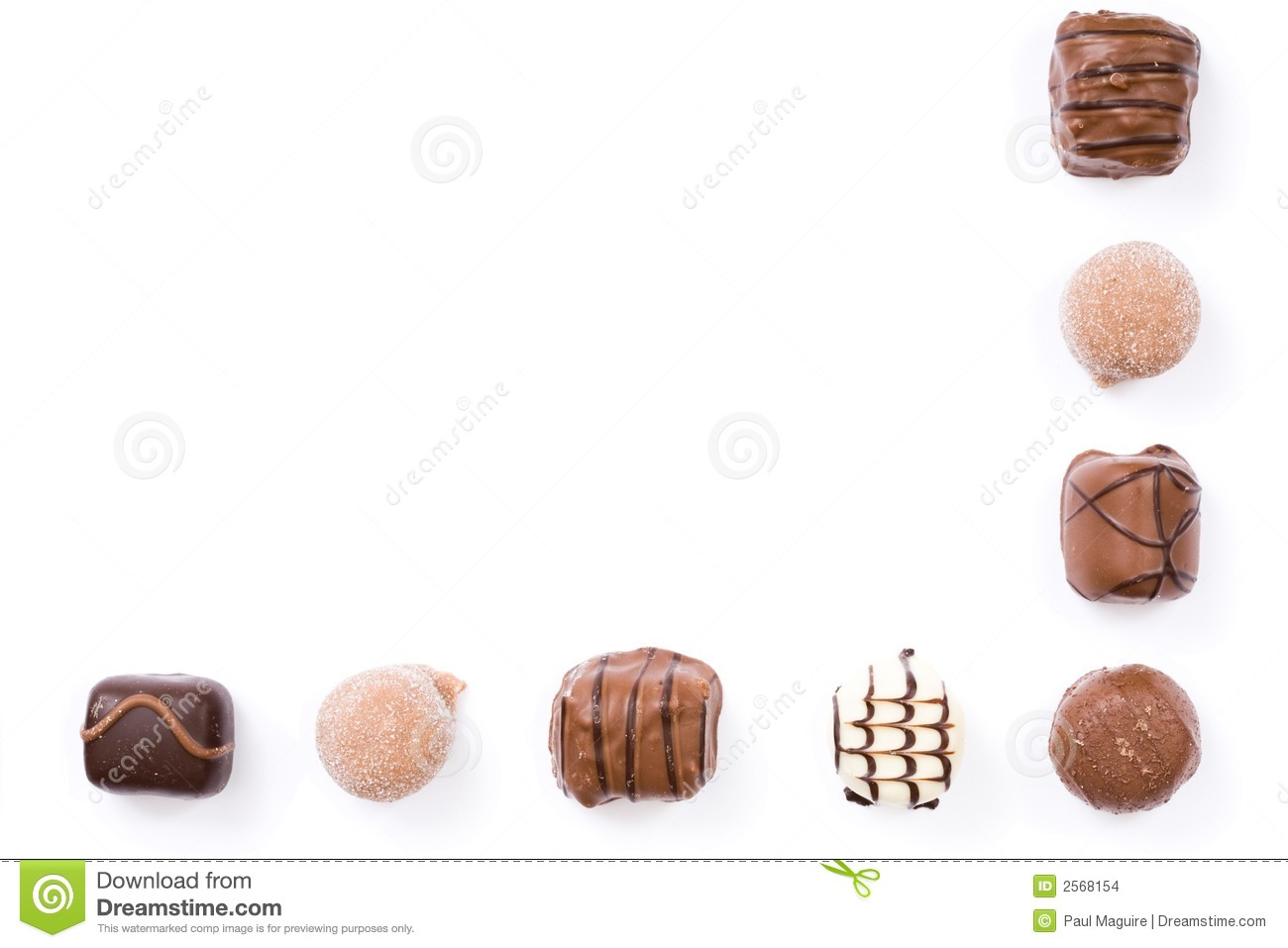 Chocolate Border Stock Photo Image Of Collection