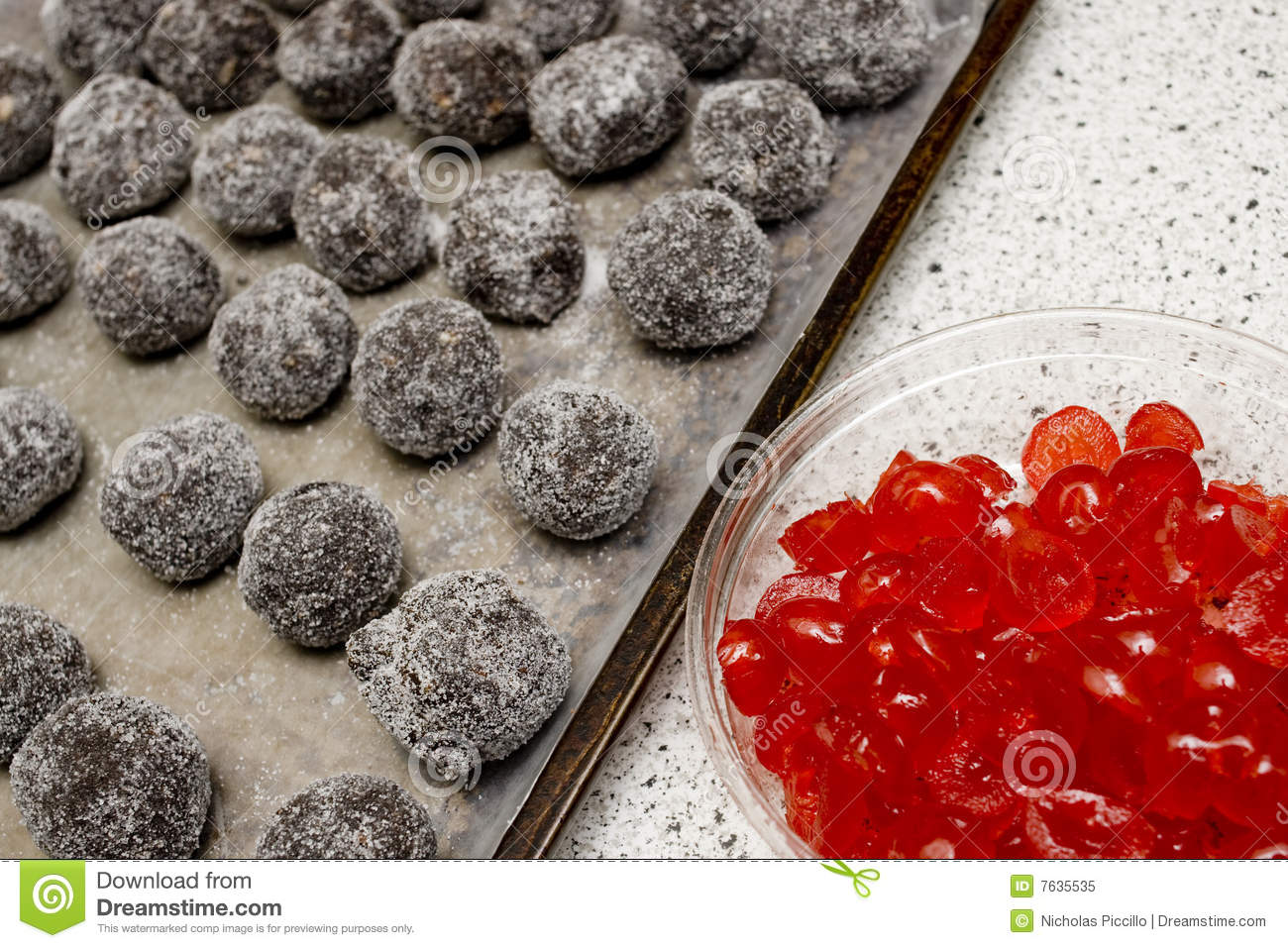Chocolate Bourbon Balls Royalty Free Stock Photo - Image: 7635535