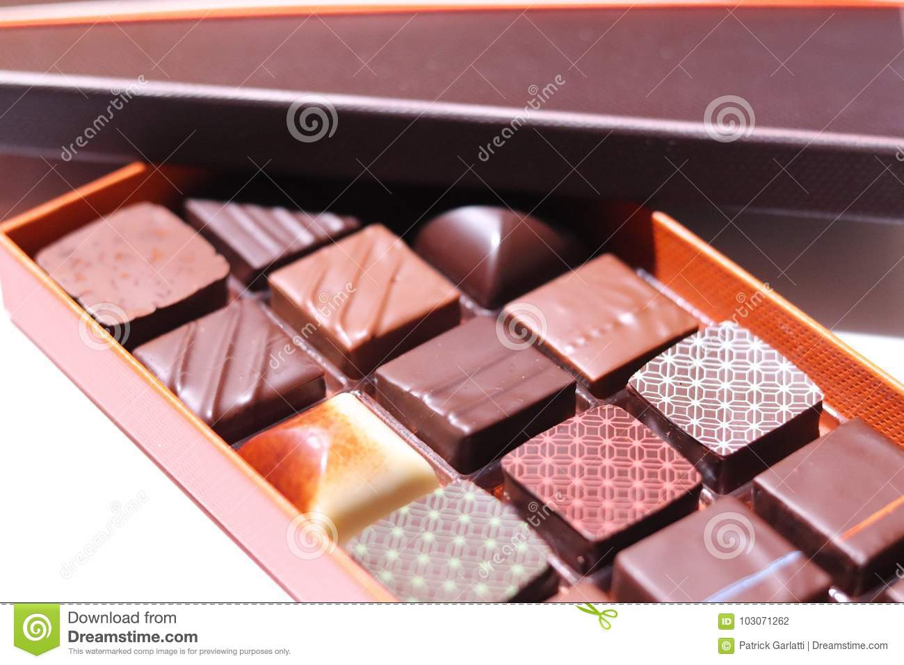 Chocolate Box Stock Photo Image Of Praline Chocolatesbox 103071262