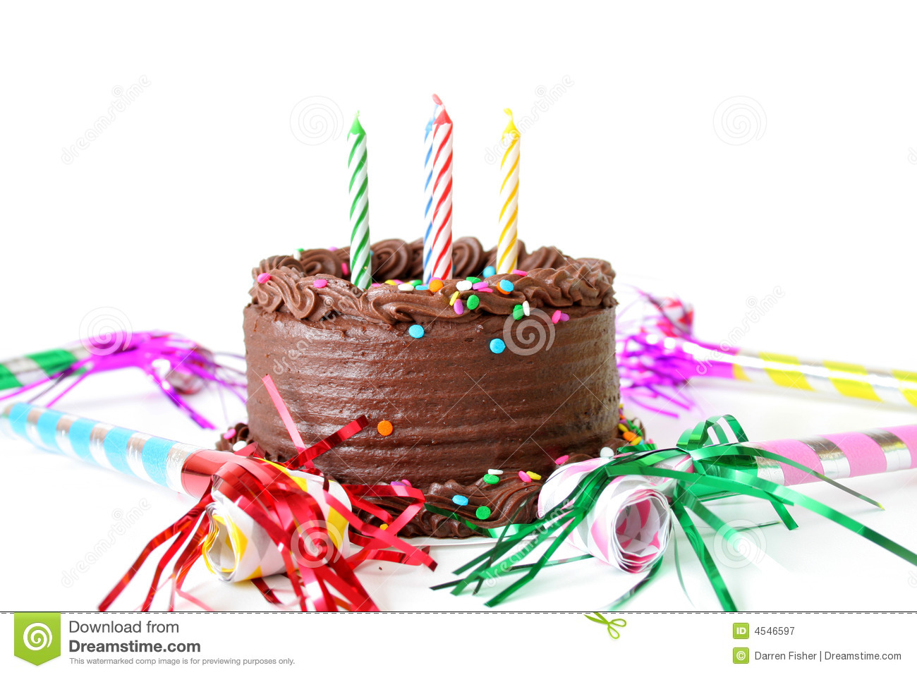 Chocolate Brithday Cake Stock Image Image Of Chocolate