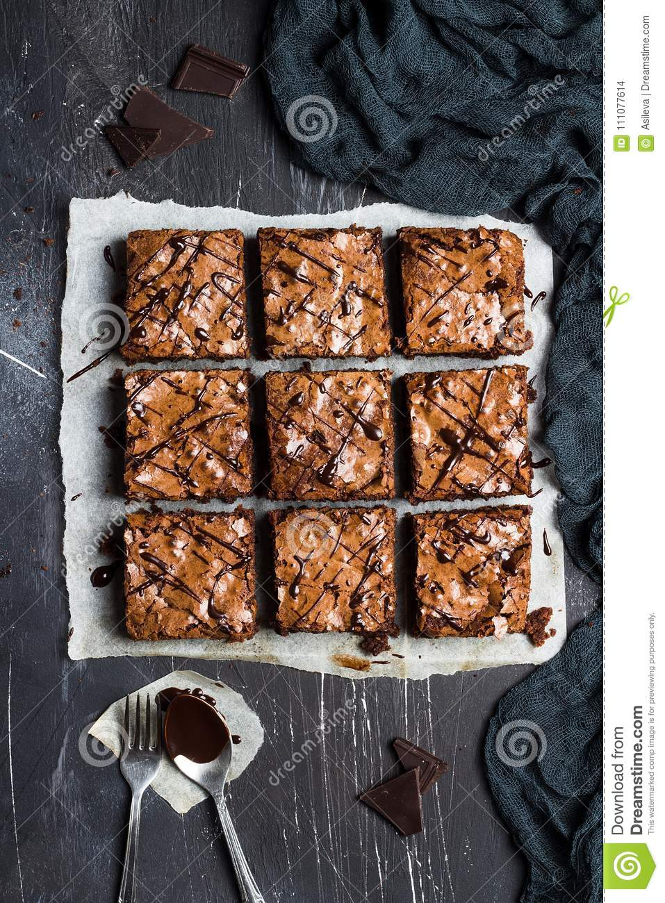 Chocolate brownie cake piece pie homemade pastries sweet cooking