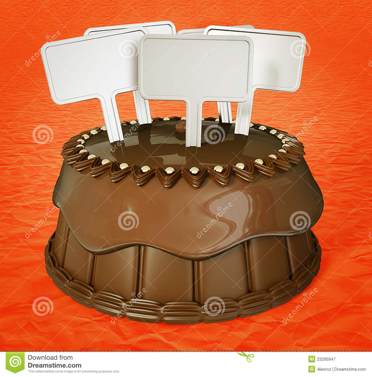 Chocolate Cacke Stock Illustration Illustration Of