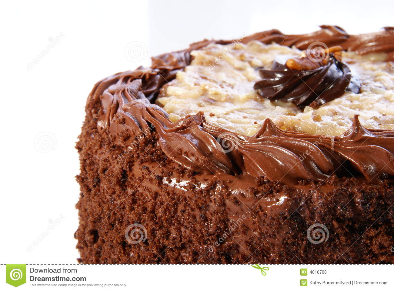 German Chocolate Cake With Coconut Frosting Nutrition
