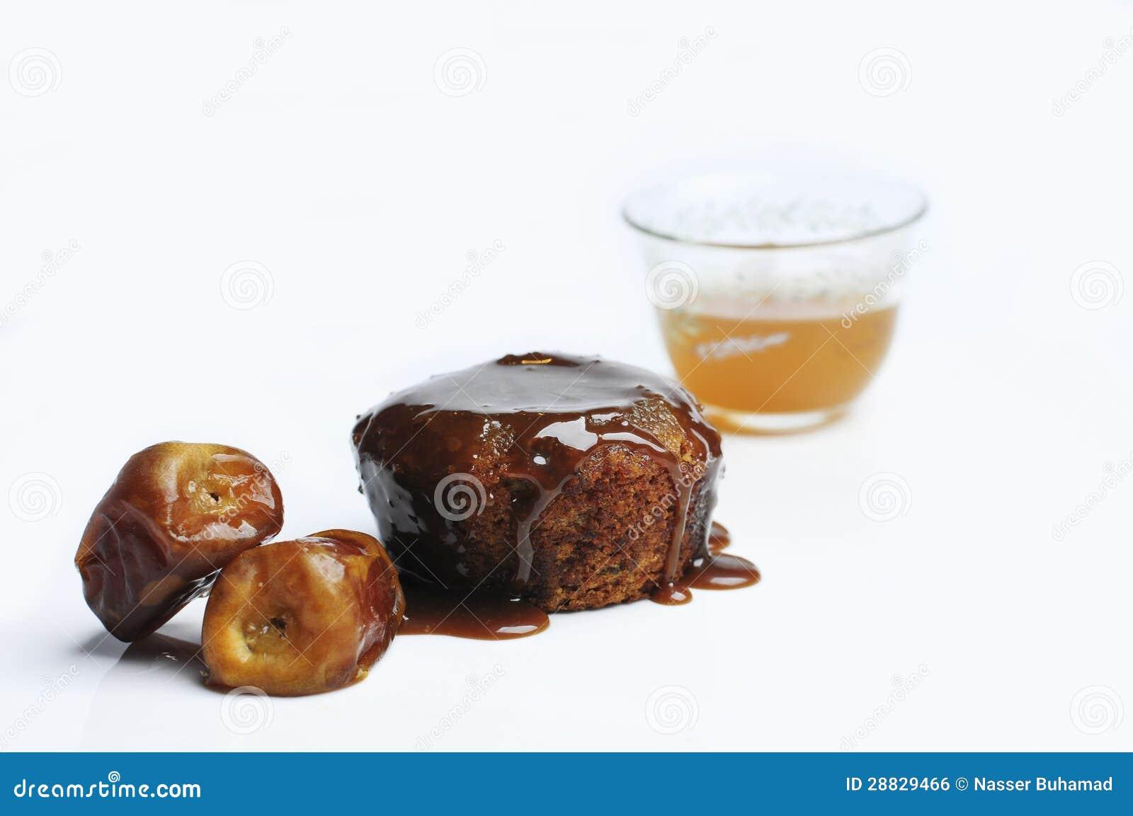 Chocolate Cake For Arabic Coffee Stock Photo - Image of