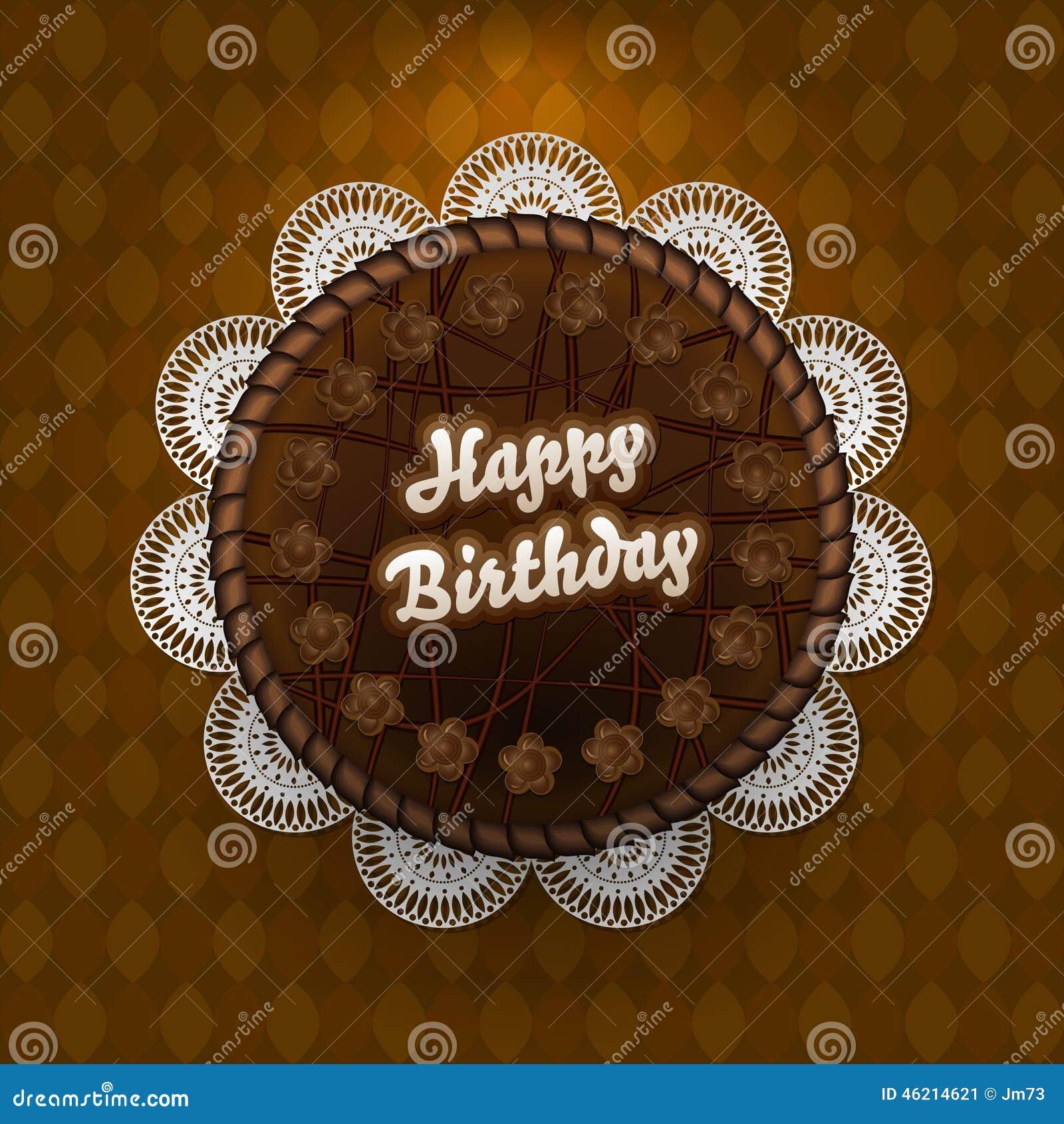 Chocolate Cake With Birthday Wishes