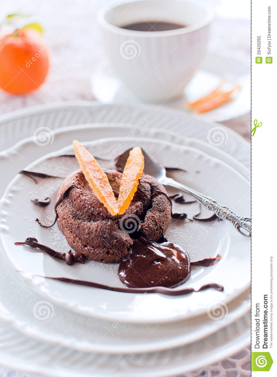 Chocolate Orange Peel Cake