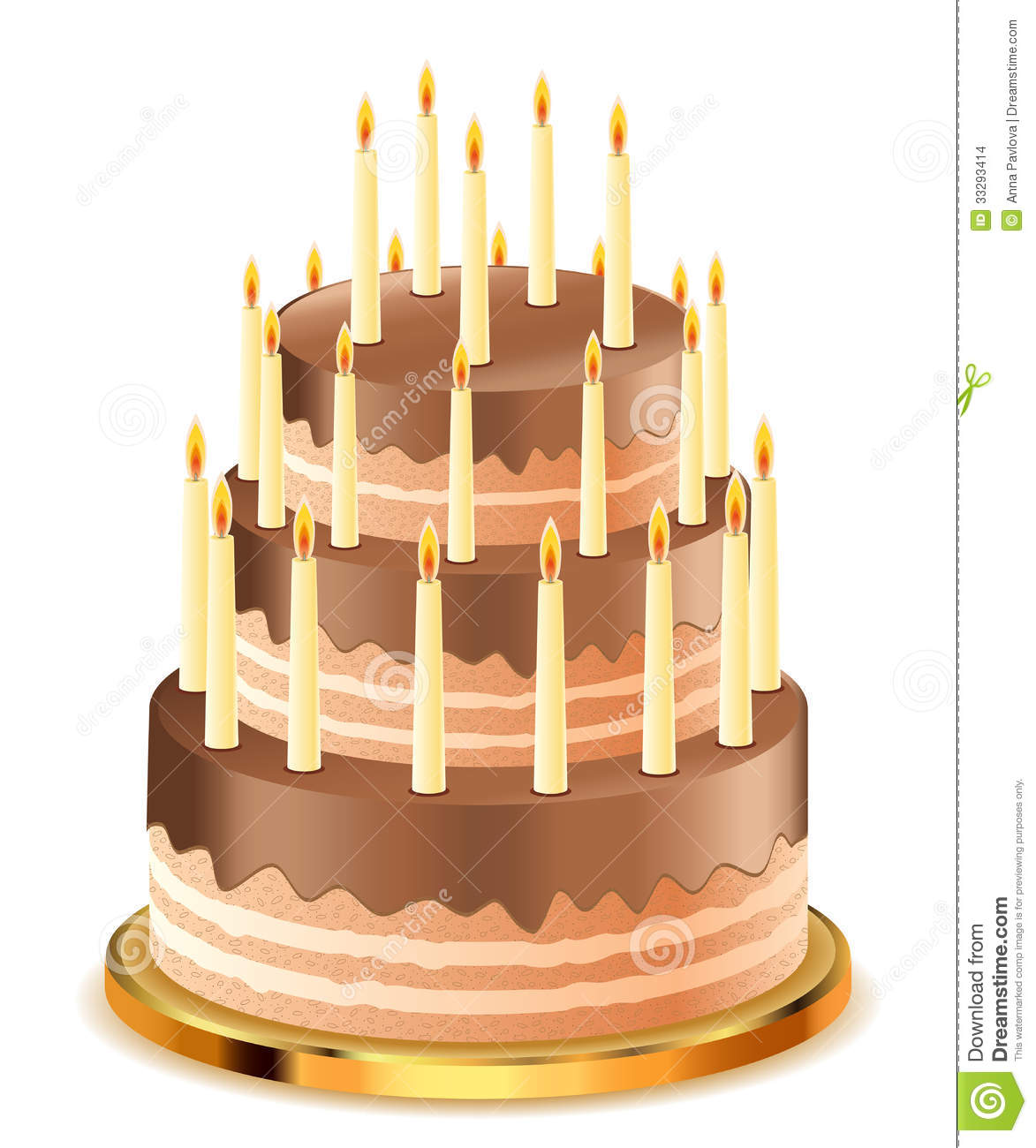 Chocolate Cake Images With Candles : Chocolate Cake With Candles Stock Images - Image: 33293414