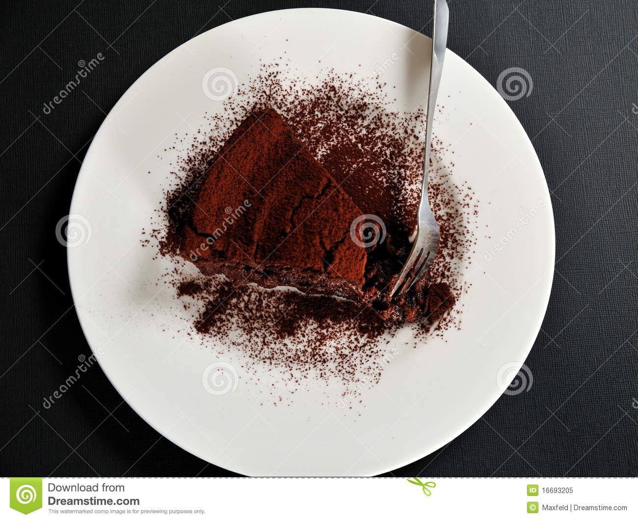 Chocolate Cake With Chestnut Cream And Cacao Royalty Free Stock Photo ...