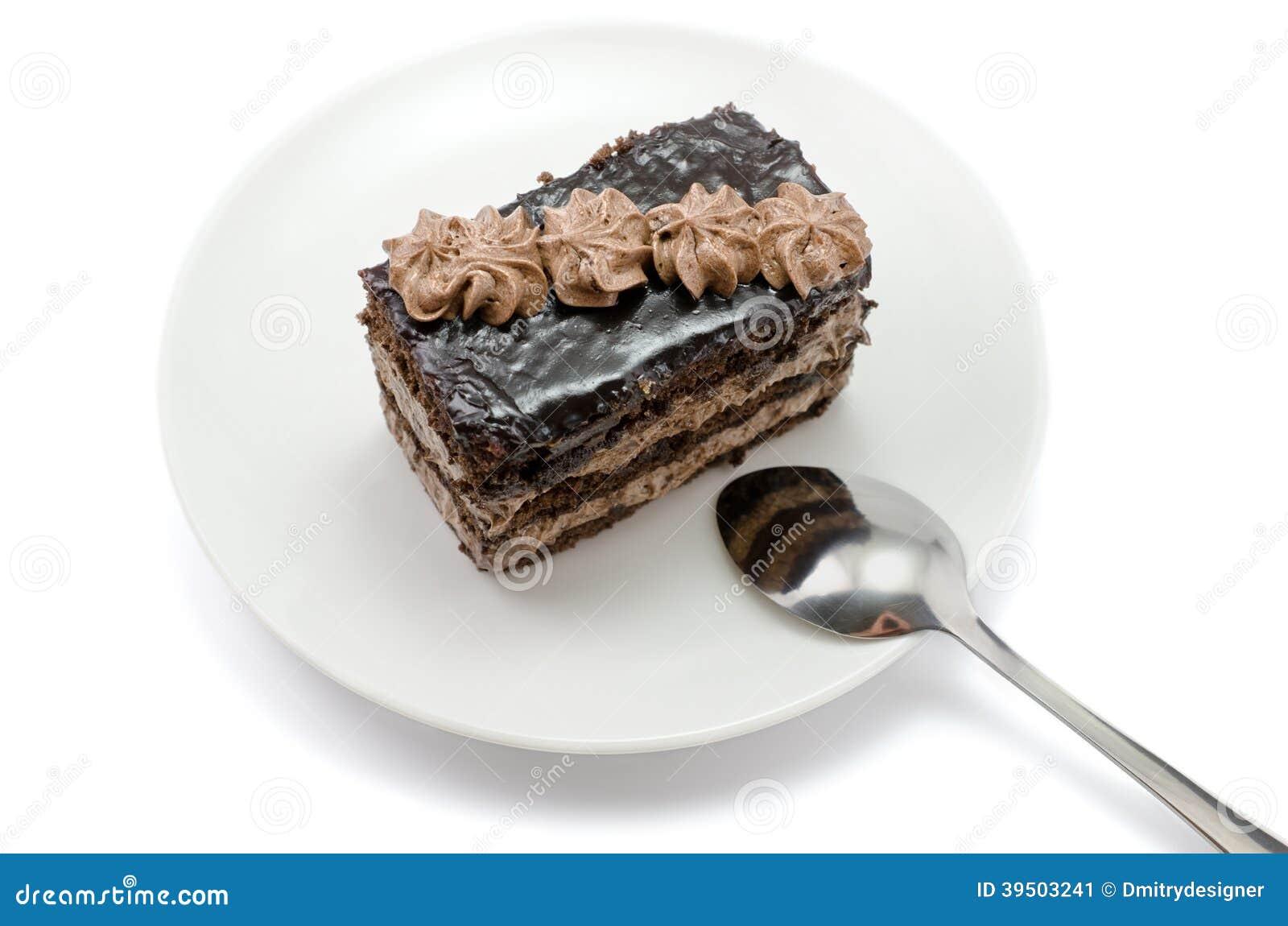 Chocolate cake close-up