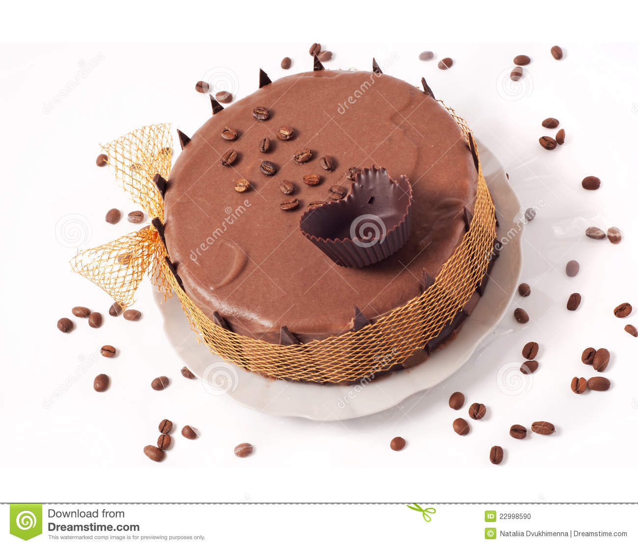 Chocolate Cake With Coffee Beans Stock Photo - Image: 22998590